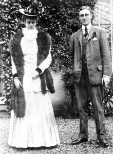 Franklin and Eleanor Roosevelt on their wedding day.