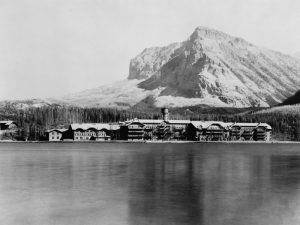 Many Glacier Hotel at Glacier National Park by the Kiser Photo Co., 1921
