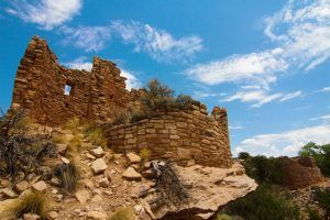 Cutthroat Castle at Hovenweep National Monument in Colorado by the National Park Service