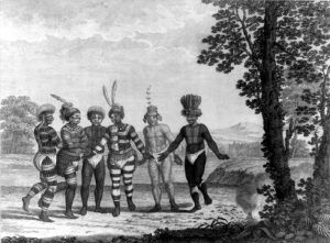 Indians at Mission San Jose, California by George H. Langsdorff, 1812
