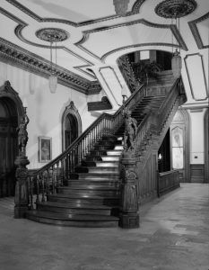 Grand Staircase at the Iolani Palace, Hawaii by the Historic American Buildings Survey