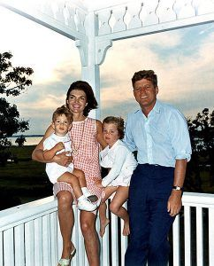 John F. Kennedy and family in Hyannis Port, Massachusetts by Cecil W. Stoughon, 1962