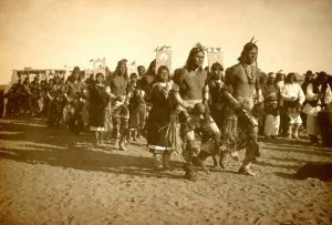 Jemez Pueblo Ceremonial Dance by Simeon Schwemberger, 1908