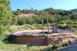 Jemez State Monument Gisewa Pueblo Kiva