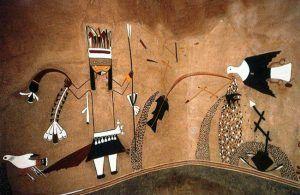 Kuaua Pueblo Kiva Mural, courtesy Wikipedia