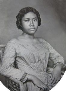Lydia Kamakaeha as a girl in 1853.