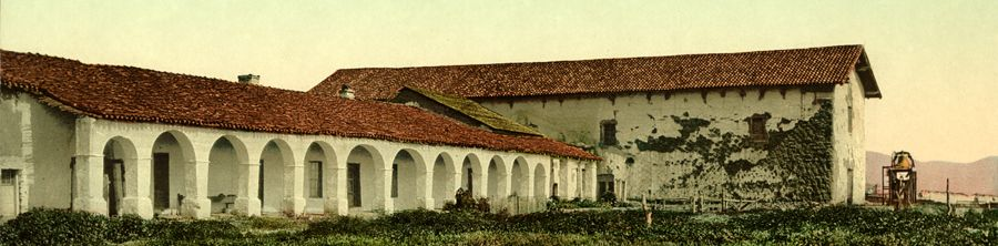 Mission San Miguel, California by the Detroit Photo Co, 1898
