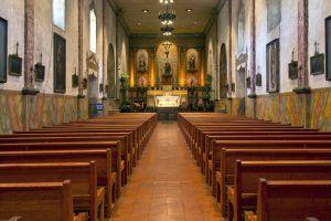 Santa Barbara Mission Interior, California by Carol Highsmith