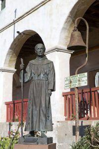 Statue at Santa Barbara Mission, California by Carol Highsmith