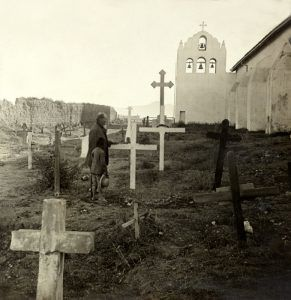 Mission Santa Inez Cemetery by the Keystone View Co., 1925