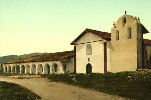 Mission Santa Inez, California by the Detroit Photographic Company, 1898