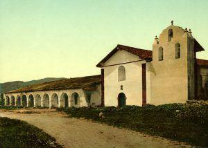 Mission Santa Inez, California by the Detroit Photo Co., 1898