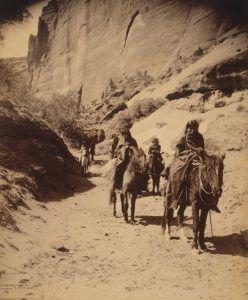 Navajo in a Canyon, 1904