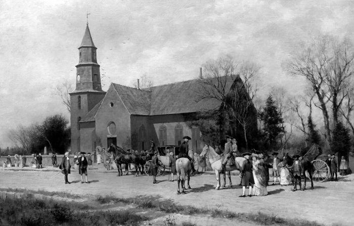 Old Bruton Parish Church, Williamsburg, Virginia by Wordsworth Thompson