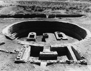 Pueblo Del Arroyo Kiva at Chaco Canyon, New Mexico by the Historic American Buildings Survey