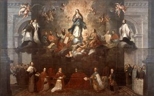 Representation of the two powers of church and state, by Francisco Antonio Vallejo