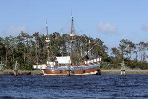 Elizabeth II, a representative 16th-century sailing vessel in Festival Park in Manteo, Roanoke Island, North Carolina by Carol Highsmith