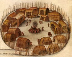 Roanoke Indian Village by John White