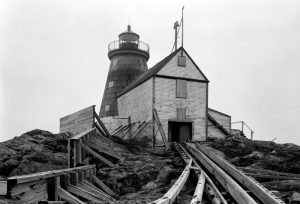 Saddleback Ledge Lighthouse, Rockland, Maine by James M. Replogle, Historic American Buildings Survey, 1960