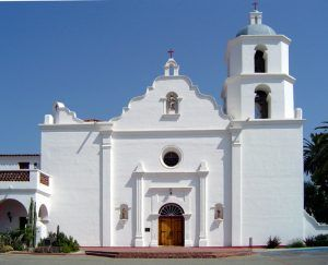 San Luis Rey Mission, Oceanside, California, courtesy Wikipedia