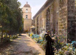 Santa Barbara Mission, California by Frances Benjamin Johnston, 1917