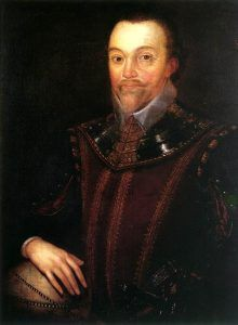 English Naval officer, Sir Francis Drake