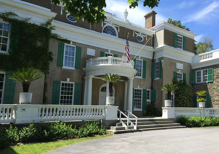 Roosevelt's Springwood Estate in Hyde Park, New York is now a National Historic Site, courtesy Wikipedia