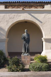 Statue of Friar Junipero Serra at Santa Inés Mission by Carol Highsmith