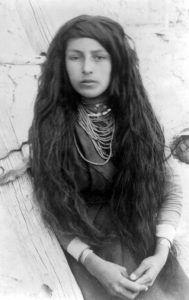 Tigua Maiden, 1890