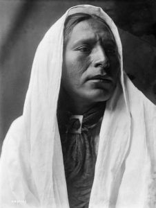 Tiwa Man by Edward S. Curtis, 1905