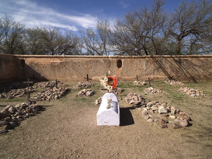Tumacacori Mission Cemetery by Carol Highsmith