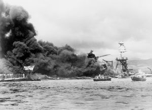 The United States entered World War II after the bombing of Pearl Harbor, Hawaii in December, 1941.