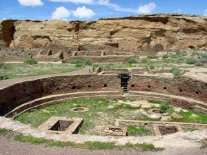 Chaco Canyon, New Mexico by the National Park Service.