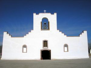 The Nuestra Senora de la Concepcion del Socorro Church in Socorro, Texas by Kathy Weiser-Alexander