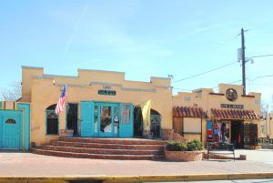 Old Town shops in Albuquerque, New Mexico by Kathy Weiser-Alexander.