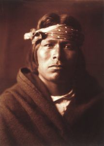 Acoma Pueblo Man by Edward S. Curtis, 1904.