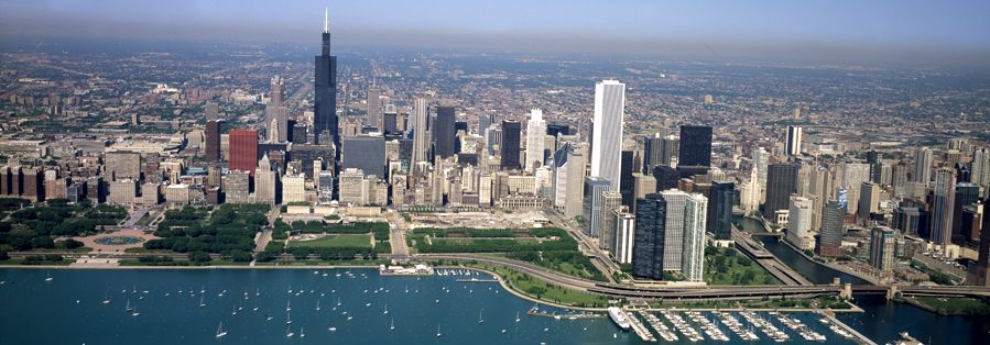 Aerial View of Chicago, Illinois by Carol Highsmith.