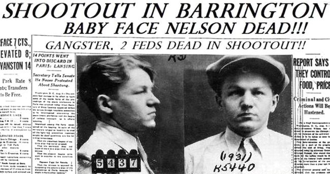 Baby Face Nelson Dead, Chicago Tribune Newspaper
