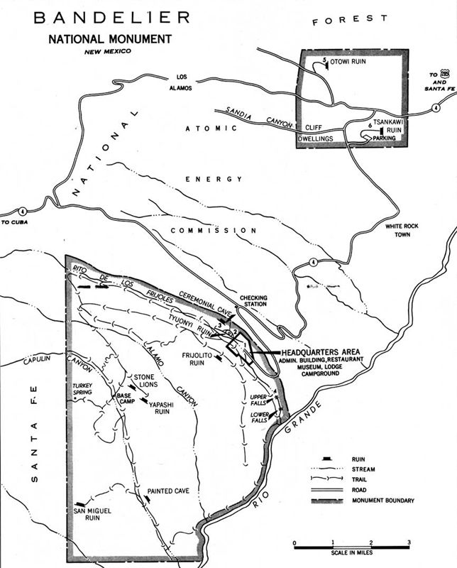 Bandelier National Monument Map by the National Park Service