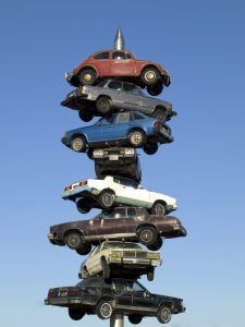 Cars on a spindle in Berwyn, Illinois in 2007. Photo by Carol Highsmith.