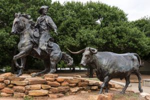 Chisholm Trail Statue in Waco, Texas by Carol Highsmith.
