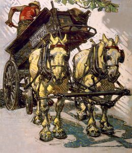 Coal Wagon by Joseph Lavendecker, 1918