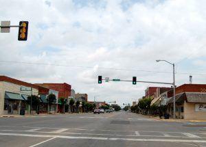 Main Street, Elk City, Oklahoma by Kathy Weiser-Alexander.