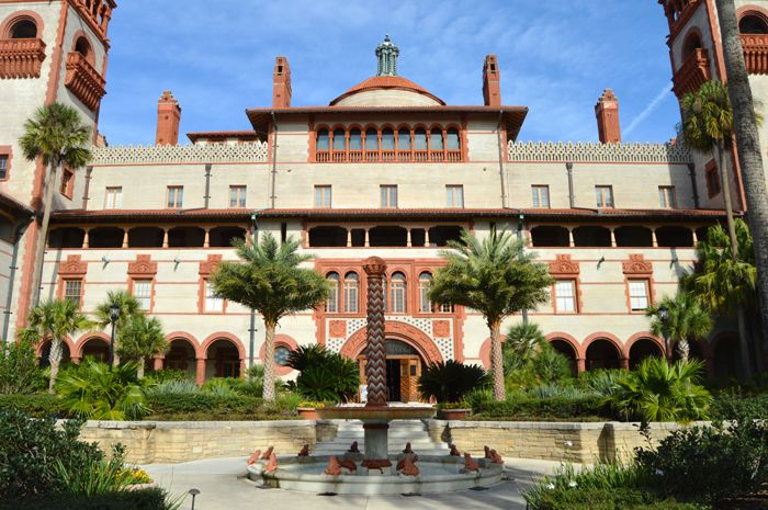 The Ponce de Leon Hotel is now Flagler College, in St. Augustine, Florida, by Kathy Weiser-Alexander.