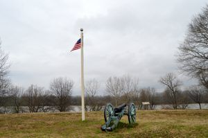 Site of the first Fort Smith along the Arkansas River, by Kathy Weiser-Alexander.
