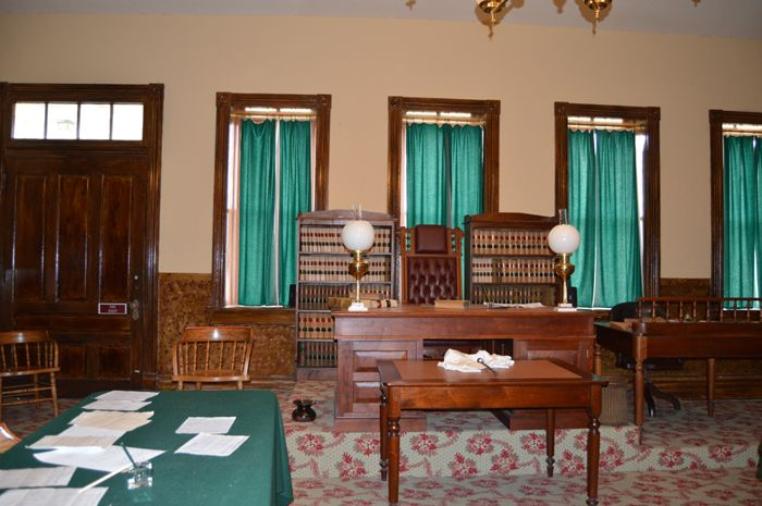 Judge Parker's Courtroom at Fort Smith, Arkansas by Kathy Weiser-Alexander.