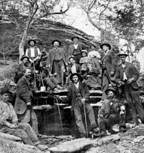 Partaking of the healing waters at Eureka Springs, 1881.