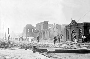 Hot Springs, Arkansas after the 1913 fire by Bain News Service