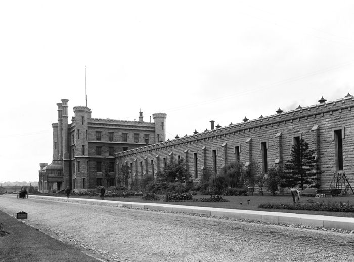Illinois State Penitentiary, Joliet, Illinois by the Detroit Publishing Co., about 1900