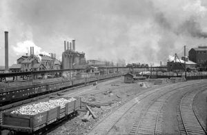 Iron & Steel Works, Joliet, Illinois by Detroit Publishing, about 1900.